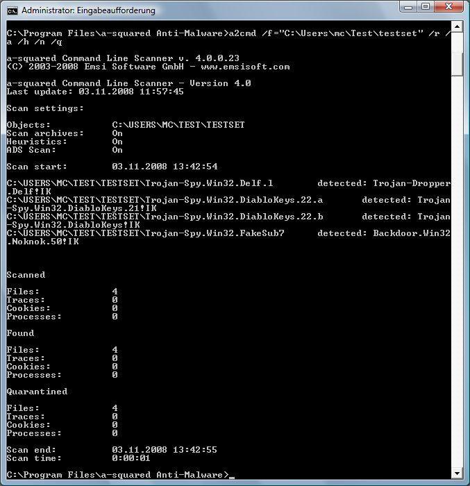 Vorschau a-squared Command Line Scanner - Bild 2