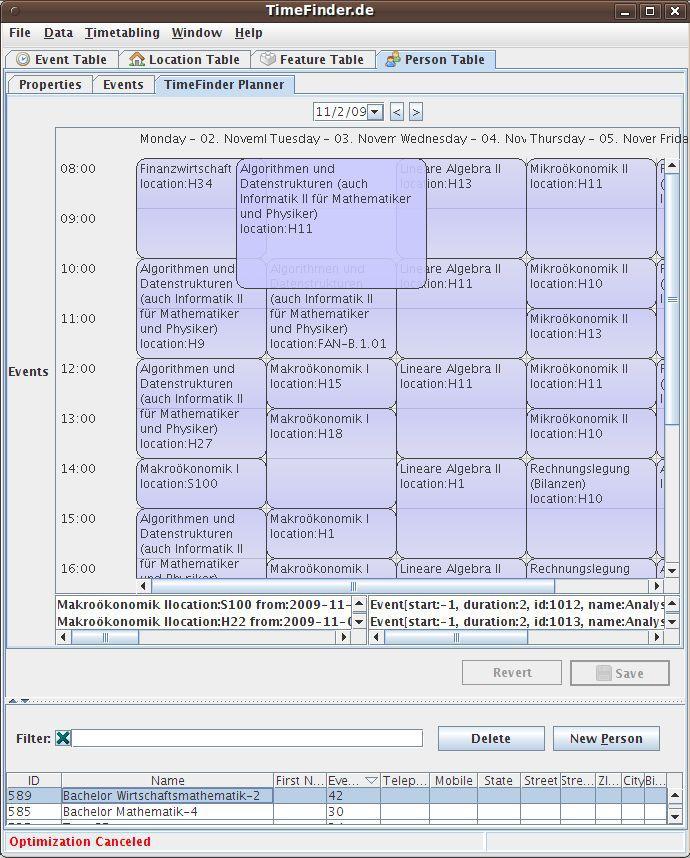 Vorschau TimeFinder - Stundenplan Software - Bild 2