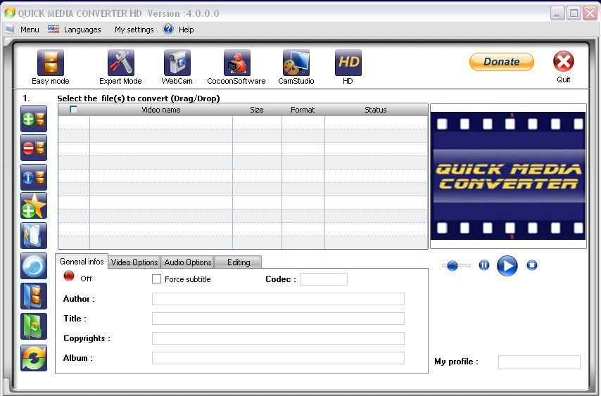 Vorschau Quick Media Converter HD - Bild 2