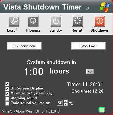 Vorschau Vista - Shutdown Timer - Bild 2