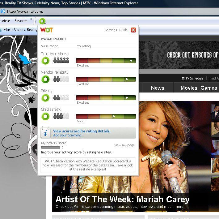 Vorschau WOT for Internet Explorer - Bild 2