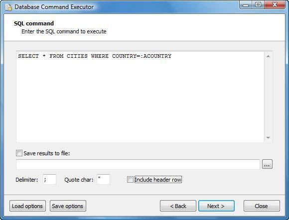 Vorschau Database Command Executor - Bild 2
