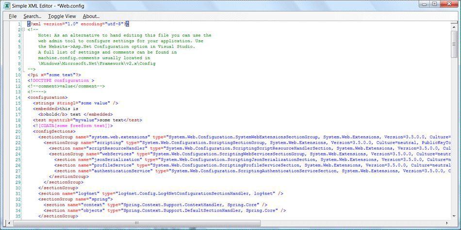 Vorschau Simple XML Editor - Bild 2