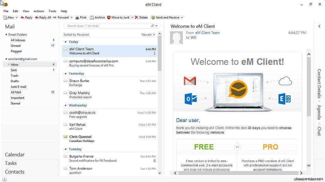 Vorschau eM Client and Calendar - Bild 2