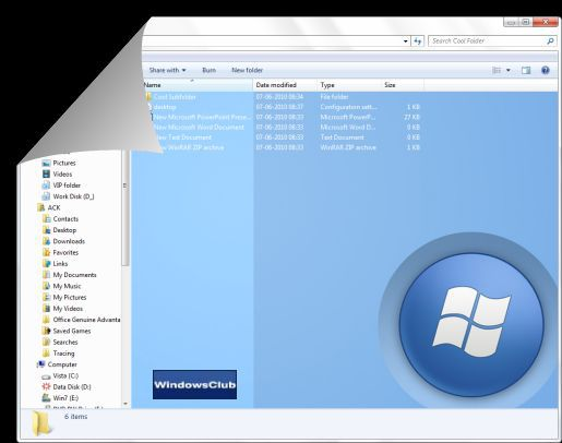 Vorschau Windows 7 Folder Background Changer - Bild 2