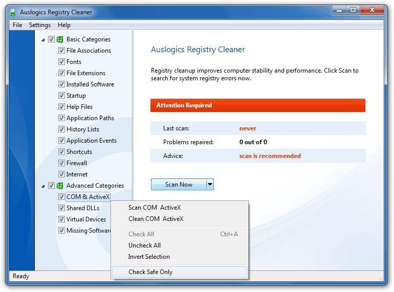Vorschau Auslogics Registry Cleaner - Bild 2