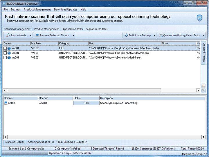 Vorschau EMCO Malware Destroyer - Bild 2