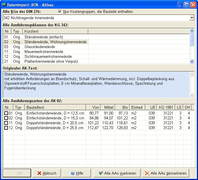 Vorschau WESA SJ KOSMA Kostenermittlung nach DIN 276 - Bild 2