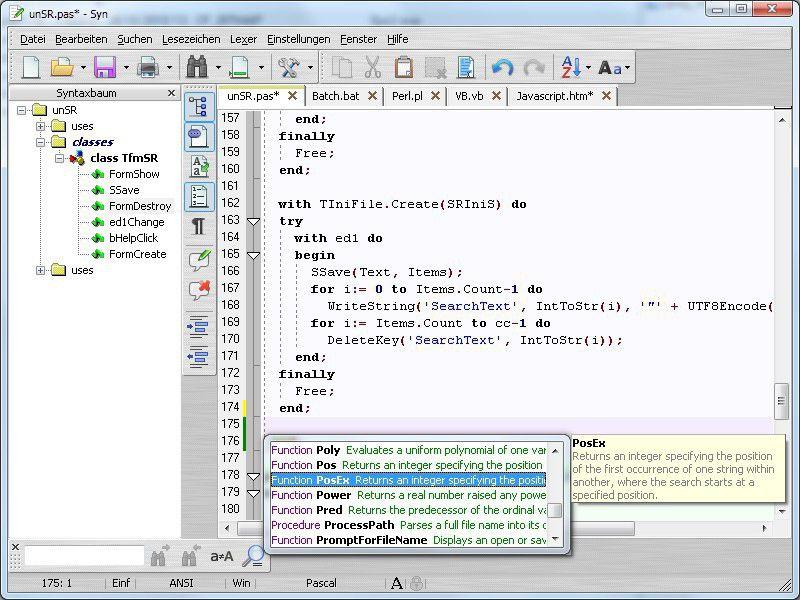 Vorschau SynWrite Editor - Bild 2