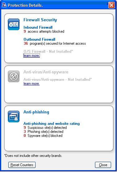 Vorschau ZoneAlarm Free Firewall - Bild 2