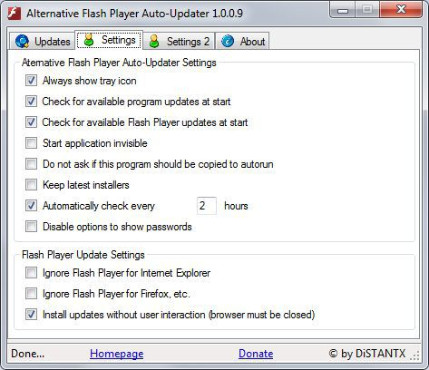 Vorschau Alternative Flash Player Auto Updater - Bild 2