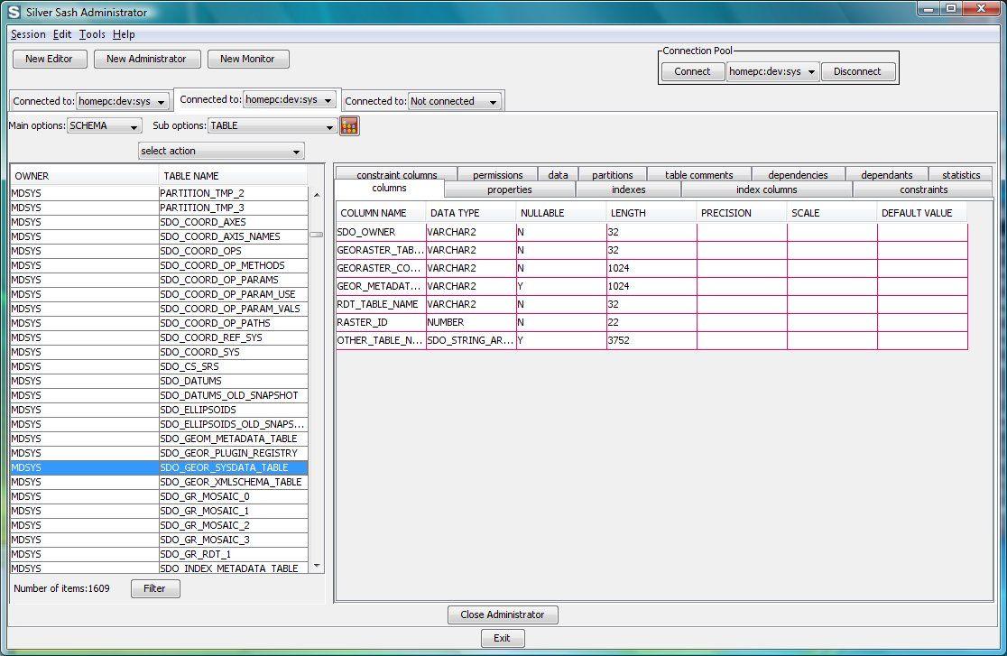 Vorschau Silver Sash Administrator Free for Oracle Database - Bild 2
