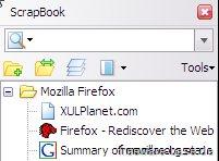 Vorschau ScrapBook für Firefox Browser - Bild 2