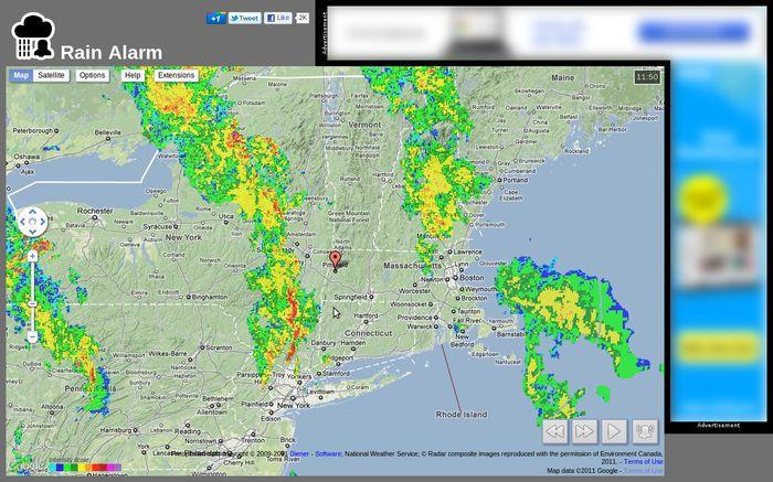 Vorschau Regen Alarm for Firefox - Bild 2