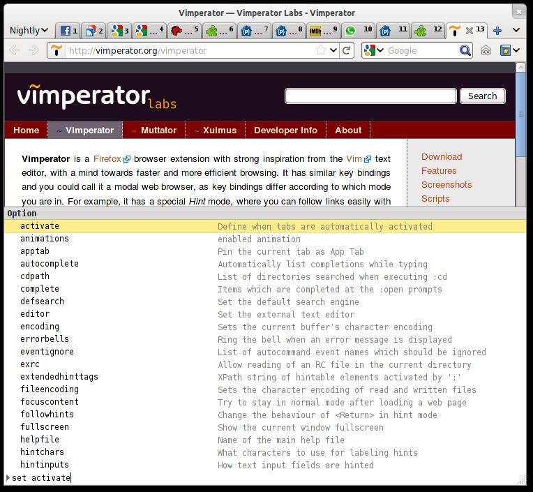 Vorschau Vimperator for Firefox - Bild 2
