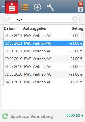 Vorschau Steganos Konto-Ticker - Bild 2