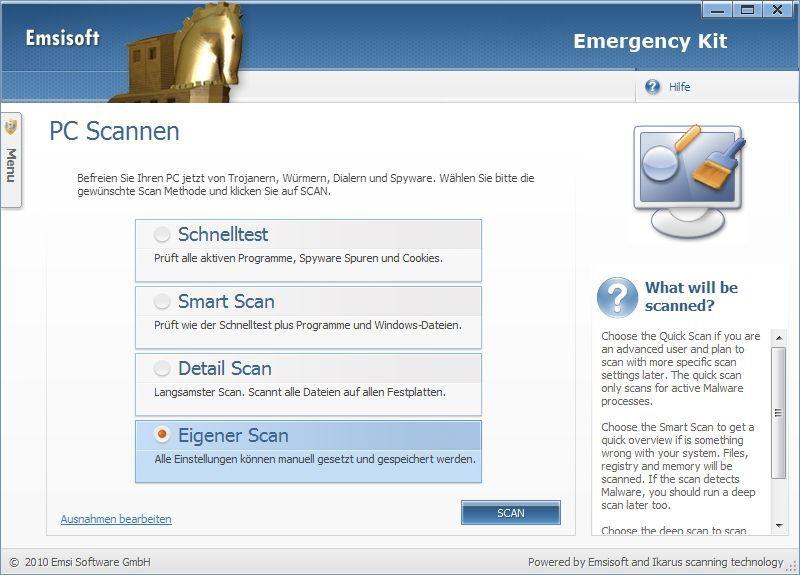Vorschau Emsisoft Free Emergency Kit - Bild 2
