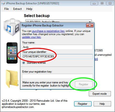 Vorschau iPhone Backup Extractor - Bild 2