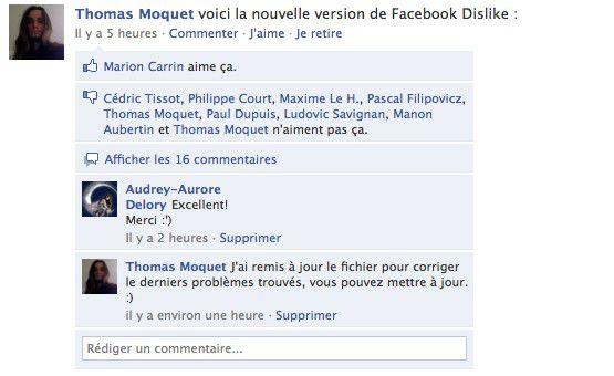 Vorschau Facebook Dislike for Firefox - Bild 2