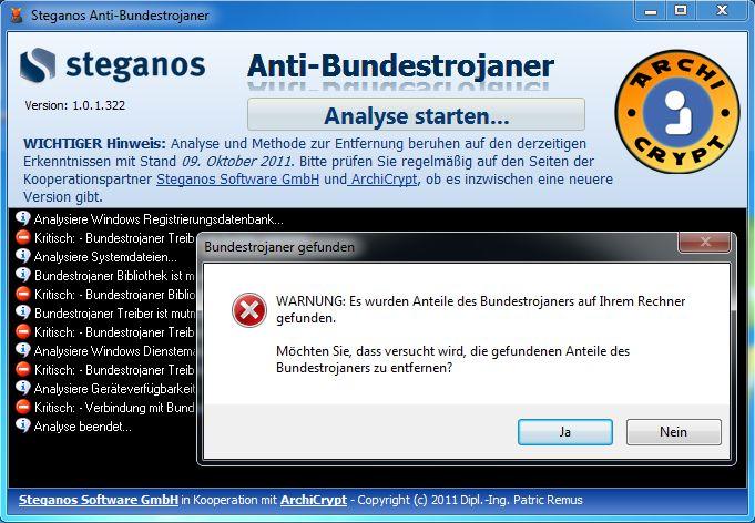 Vorschau Steganos Anti-Bundestrojaner - Bild 2