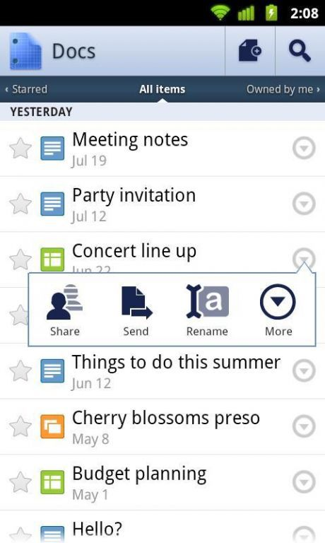 Vorschau Google Text und Tabellen Android App - Bild 2