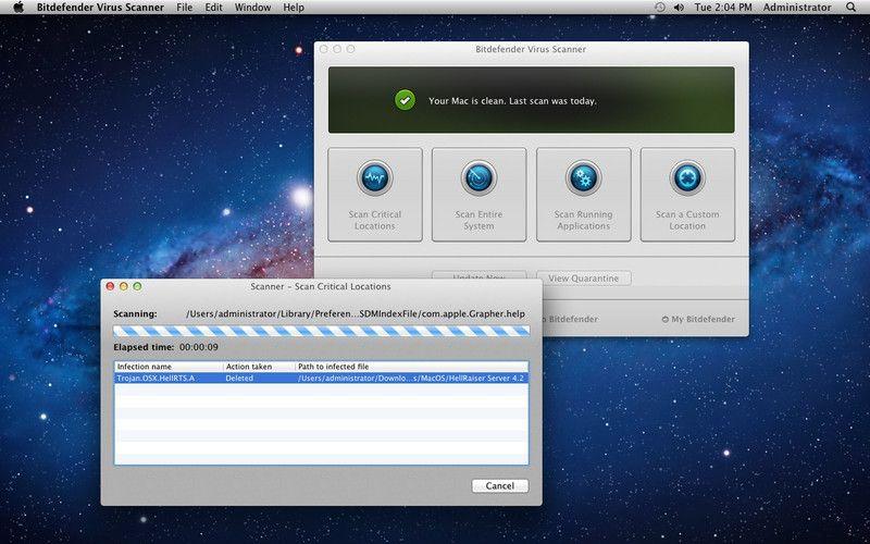 Vorschau Bitdefender Virus Scanner for Mac - Bild 2