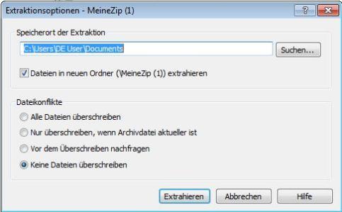 Vorschau Express Zip Datei-Komprimierungssoftware - Bild 2