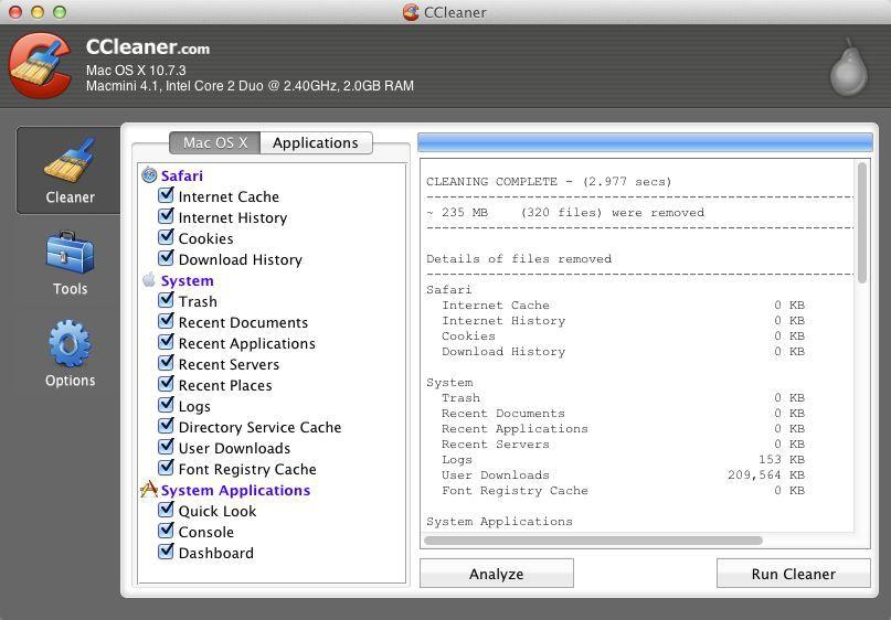 Vorschau CCleaner for Mac - Bild 2
