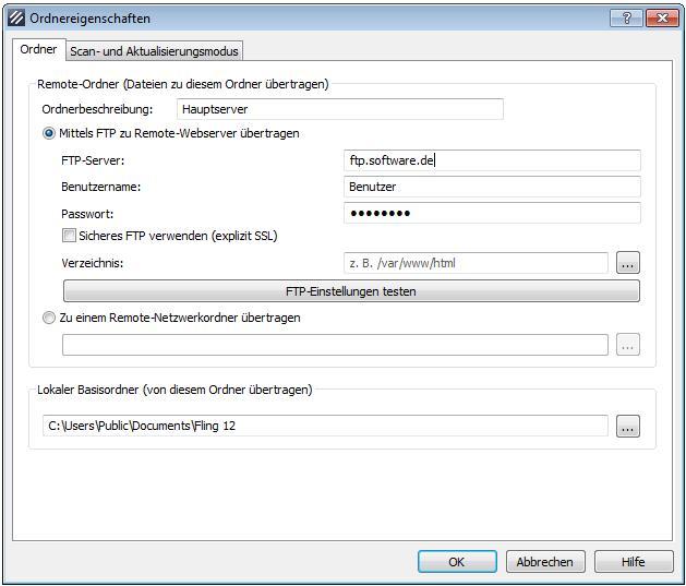Vorschau Fling Kostenloses FTP-Upload-Programm - Bild 2