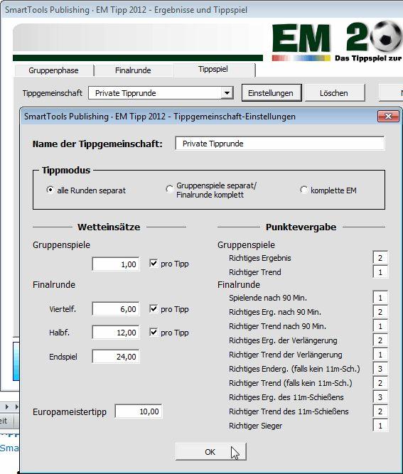 Vorschau SmartTools EM-Tipp 2012 fuer Excel - Bild 2