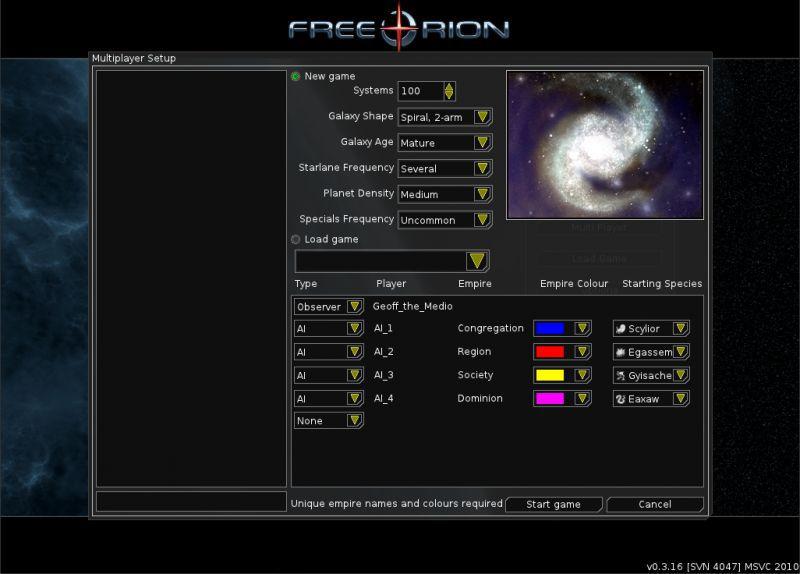 Vorschau FreeOrion - Bild 2
