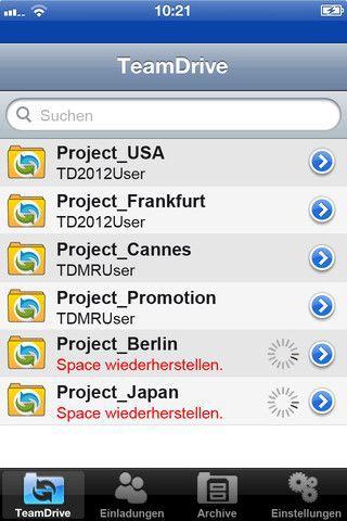 Vorschau TeamDrive for iOS - Bild 2