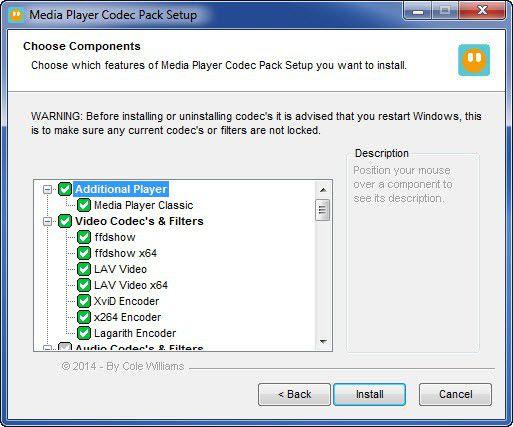 Vorschau Media Player Codec Pack - Bild 2