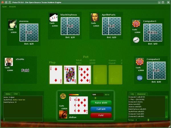 Vorschau PokerTH for Linux - Bild 2