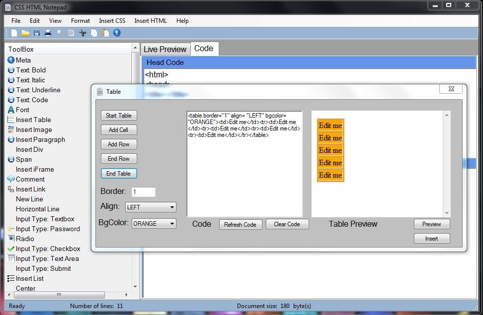 Vorschau CSS HTML Notepad - Bild 2