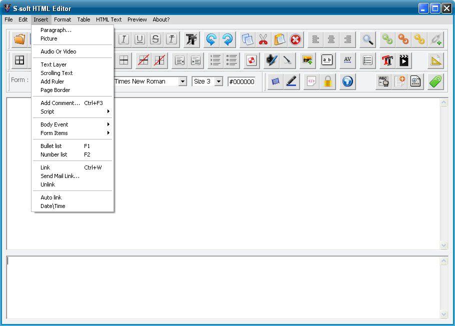 Vorschau S-soft HTML Editor Free - Bild 2
