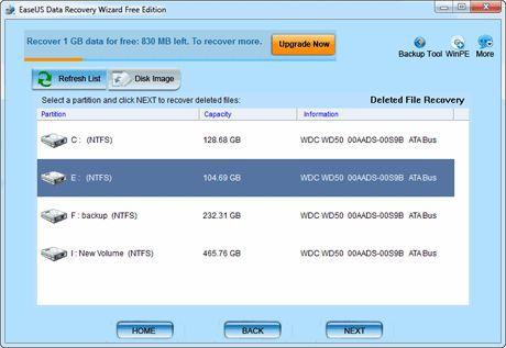 Vorschau EaseUS Data Recovery Wizard Free Edition - Bild 2