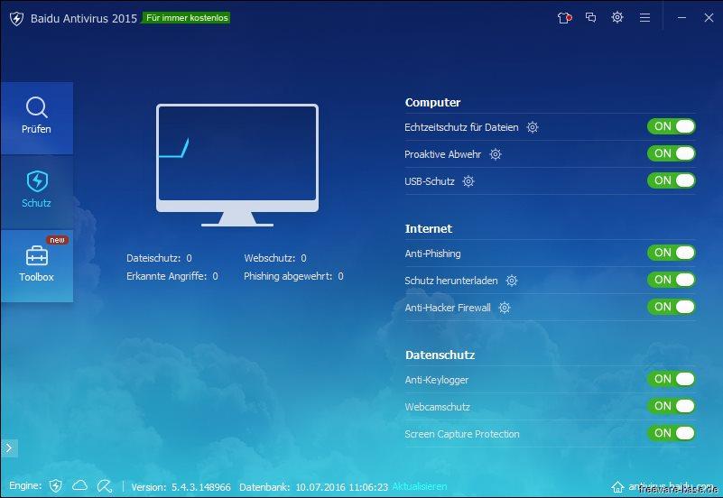 Vorschau Baidu Antivirus - Bild 2