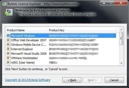 Vorschau Bytexis License Explorer - Bild 2