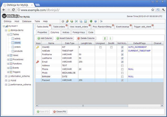Vorschau DbNinja MySQL Manager - Bild 2