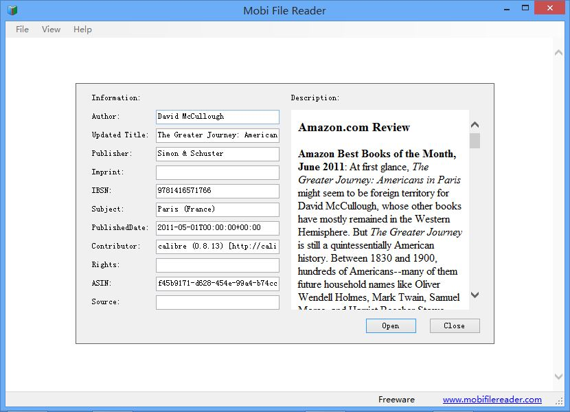 Vorschau Mobi File Reader - Bild 2