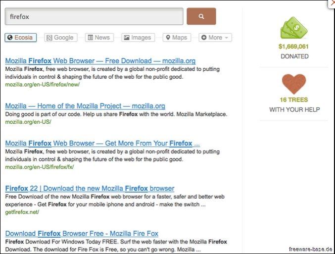 Vorschau Ecosia für Firefox - Bild 2