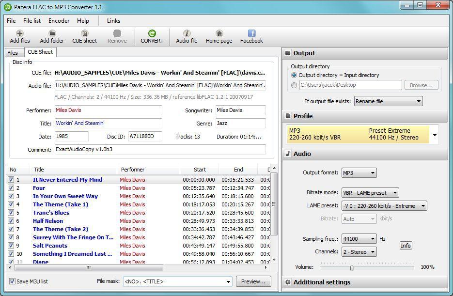 Vorschau Pazera FLAC to MP3 - Bild 2