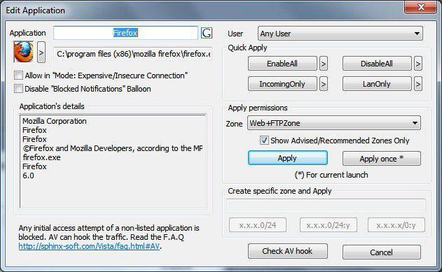 Vorschau Windows 8 Firewall Control Free - Bild 2