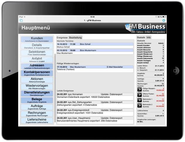 Vorschau gFM-Business free CRM + Warenwirtschaft - Bild 2