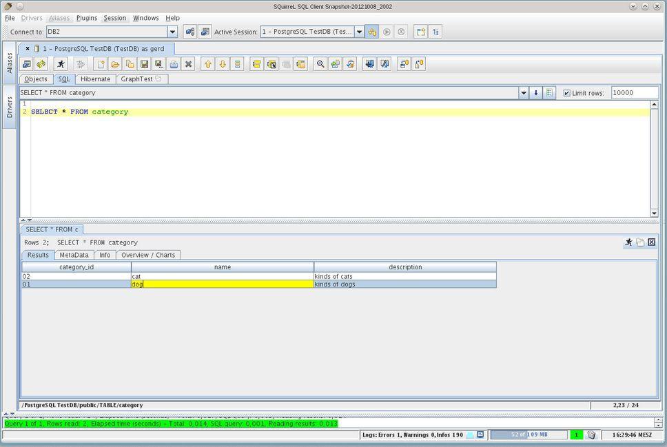 Vorschau SQuirrel SQL Client - Bild 2