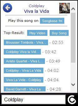 Vorschau Songbase.fm - App - Bild 2