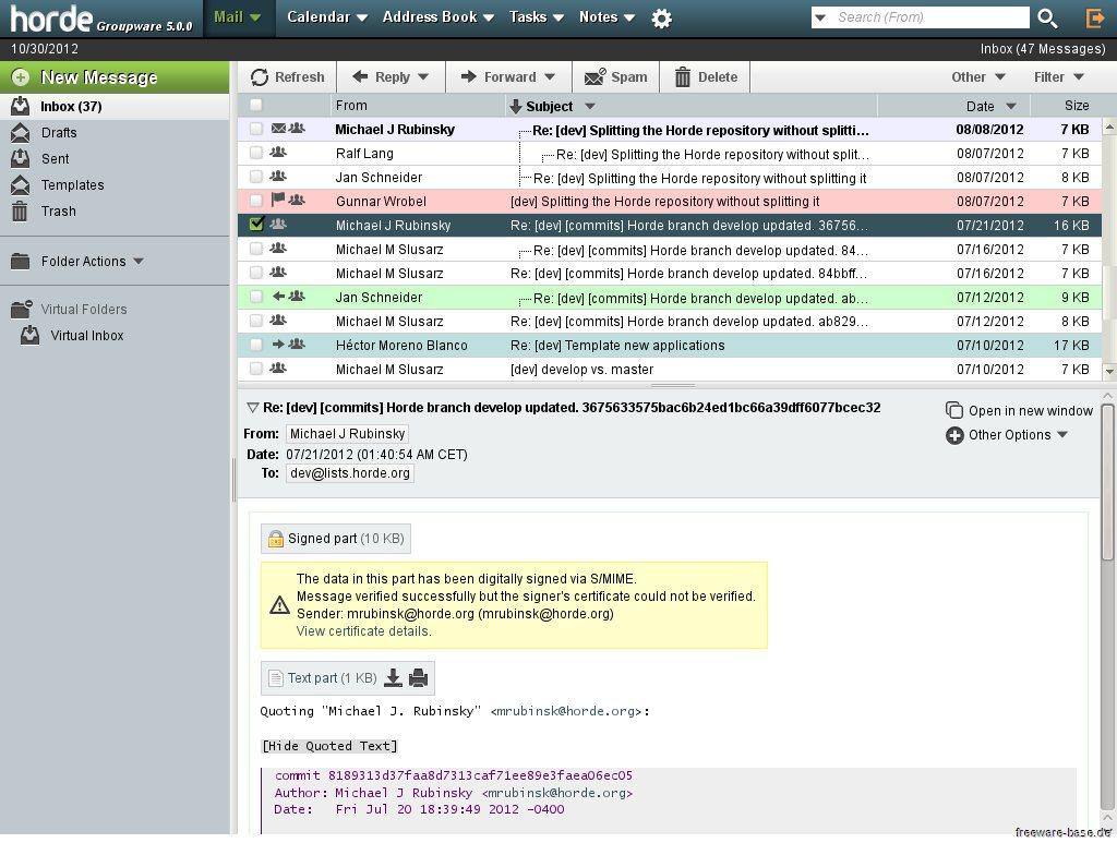 Vorschau Bitnami Horde Groupware Webmail für Mac - Bild 2