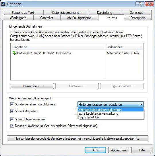 Vorschau Express Scribe Transkriptionsoftware - Bild 2