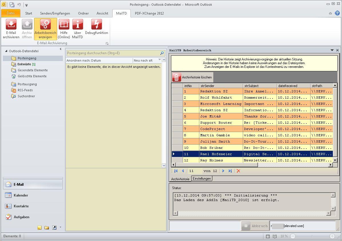 Vorschau MailTD MailToDisk - Bild 2